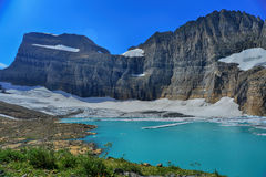 Grinnell Glacier clear blue sky, Glacier National Park Stock Images