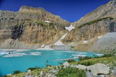 Grinnell Glacier clear blue sky, Glacier National Park Montana Royalty Free Stock Image
