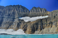 Grinnell Glacier clear blue sky, Glacier National Park Royalty Free Stock Photos