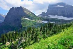 Grinnell Glacier in Glacier National Park Stock Photos