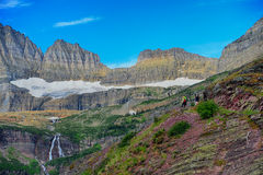 Grinnell Glacier in Glacier National Park Royalty Free Stock Photo
