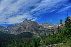 Grinnell Glacier and lake in Glacier National Park Royalty Free Stock Images
