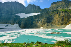 Grinnell glacier in Many Glaciers, Glacier National Park, Montana Royalty Free Stock Images