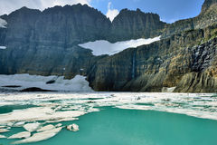 Grinnell glacier in Many Glaciers, Glacier National Park, Montana Royalty Free Stock Photo