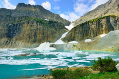 Grinnell glacier in Many Glaciers, Glacier National Park, Montana Royalty Free Stock Photography