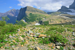 Grinnell glacier in Many Glaciers, Glacier National Park, Montana Royalty Free Stock Image