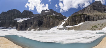 Grinnell Glacier Panoramic - Glacier National Park. Panoramic View of Grinnell Glacier in Glacier National Park, Montana, United States stock images