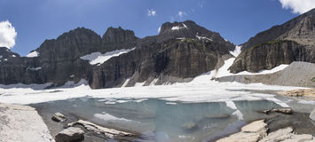 Grinnell Glacier Panoramic - Glacier National Park. Panoramic view of Grinnell Glacier, Glacier National Park, Montana, United States Royalty Free Stock Photo
