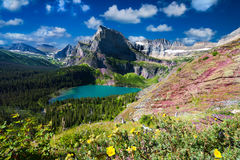 Grinnell Glacier Trail Royalty Free Stock Images