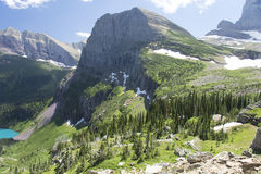 Grinnell Glacier Trail - Glacier National Park. View from Grinnell Glacier Trail showing Grinnell Lake in Glacier National Park, Montana, United States Stock Photography