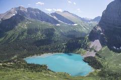 Grinnell jezioro - lodowa park narodowy obraz stock
