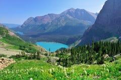 Grinnell jezioro w lodowa parku narodowym i lodowiec Obrazy Royalty Free