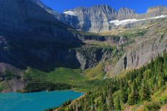 Grinnell Lake And Salamander Glacier Royalty Free Stock Image