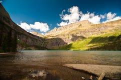 Grinnell Lake, glaciärnationalpark Arkivbild