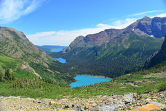 Grinnell lake in Glacier National Park Royalty Free Stock Image