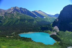 Grinnell lake in Glacier National Park Royalty Free Stock Photos