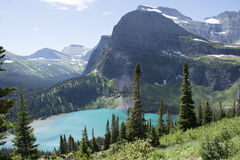 Grinnell Lake - Glacier National Park Stock Photography