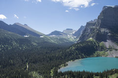 Grinnell Lake - Glacier National Park Stock Photo