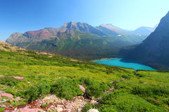 Grinnell Lake In Glacier Park Stock Photo