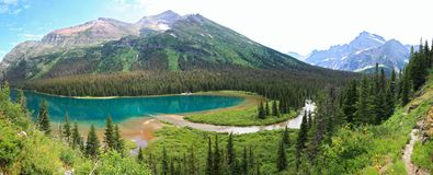 Grinnell lake montana Stock Photo