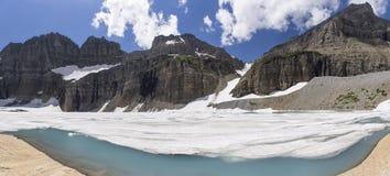 Grinnell lodowiec Panoramiczny - lodowa park narodowy obrazy stock