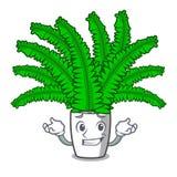 Grinning красивые папоротники шаржа в зеленой листве иллюстрация штока