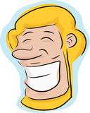 Grinning Blond Man Stock Images