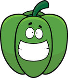 Grinning Cartoon Bell Pepper Royalty Free Stock Image