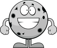 Grinning Cartoon Moon Stock Photography
