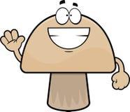 Grinning Cartoon Mushroom Royalty Free Stock Images