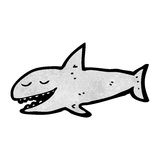 Grinning cartoon shark Royalty Free Stock Photo