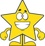 Grinning Cartoon Star Royalty Free Stock Photo