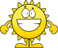 Grinning Cartoon Sun Royalty Free Stock Images