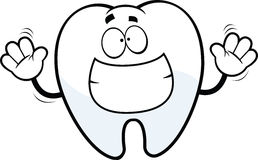 Grinning Cartoon Tooth Stock Images
