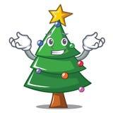 Grinning Christmas tree character cartoon. Vector illustration Stock Photo