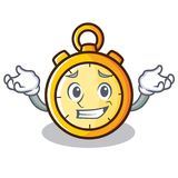 Grinning chronometer character cartoon style Stock Photography
