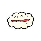Grinning cloud cartoon Royalty Free Stock Image