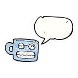 Grinning cup cartoon Stock Images