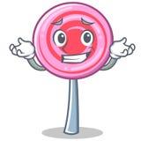 Grinning cute lollipop character cartoon. Vector illustration Stock Photography
