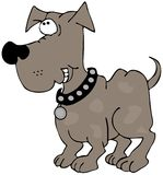 Grinning dog. This illustration depicts a brown dog with a big grin Stock Images