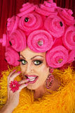 Grinning Drag Queen Biting Fingernails Royalty Free Stock Photo