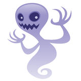 Grinning Ghost. Vector cartoon illustration of a spooky ghost character with an evil grin. Great for scary Halloween designs. BOO royalty free illustration