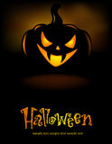 Grinning Halloween lantern Royalty Free Stock Photo
