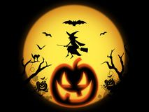 Grinning halloween pumpkin Stock Images