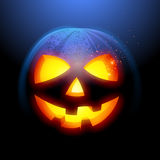 Grinning Halloween Pumpkin Stock Photo