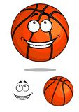 Grinning happy cartoon basketball ball Royalty Free Stock Photos