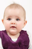 Grinning infant baby. The first year of the new life Royalty Free Stock Photos