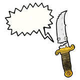 Grinning knife cartoon character Royalty Free Stock Images