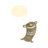 Grinning little bear retro cartoon Royalty Free Stock Photos