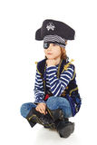 Grinning little boy pirate Stock Photos